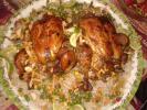 دجاج محشي من زهرة البنفسج