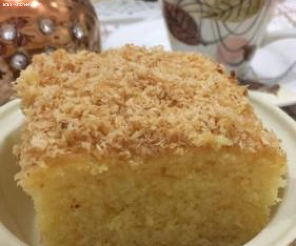 كيكة رطبة  كيك جوز الهند المحموس والجبن